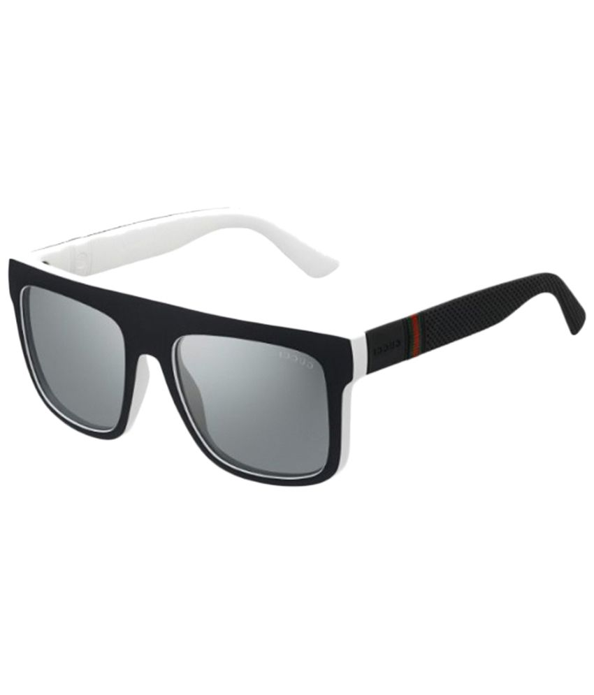 71643eb67 Gucci Gray & Black Wayfarer Sunglasses for Men - Buy Gucci Gray & Black Wayfarer  Sunglasses for Men Online at Low Price - Snapdeal