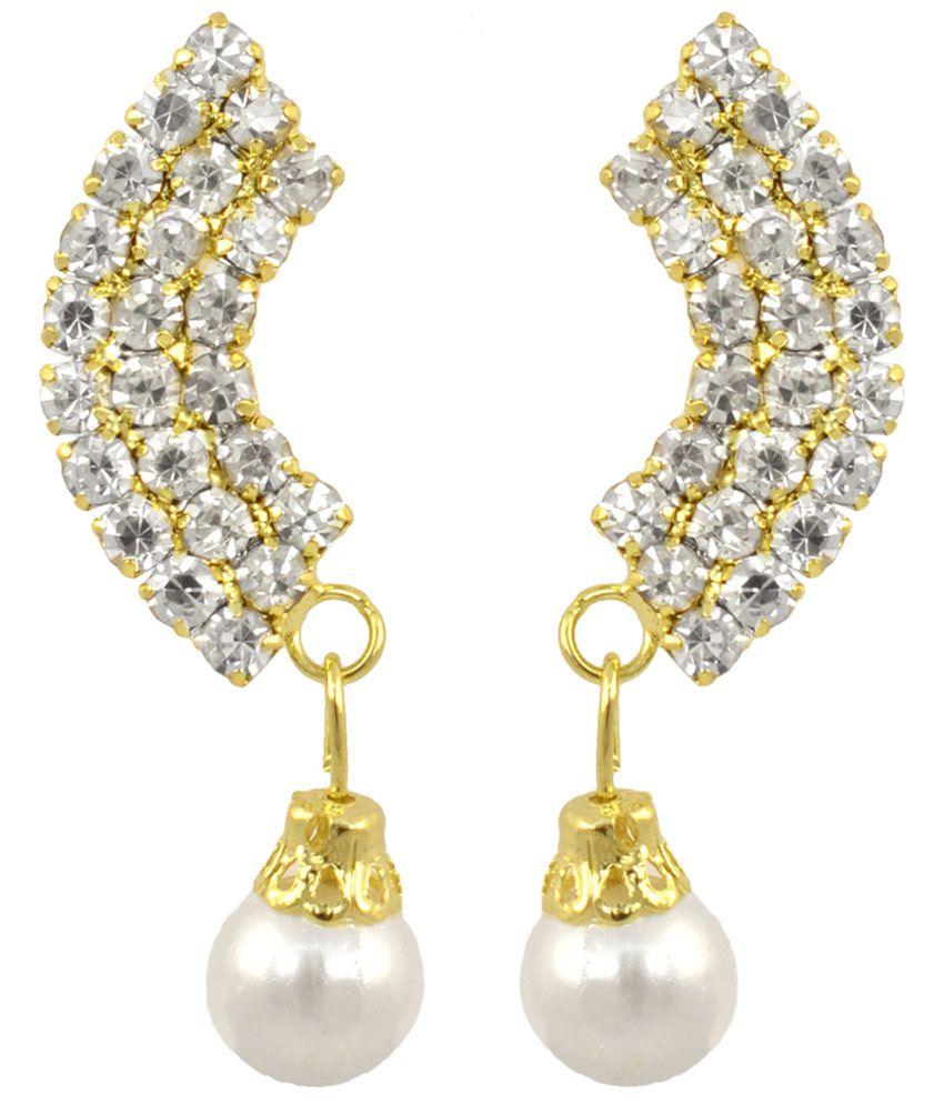 Suvini Golden Alloy Stud Earrings