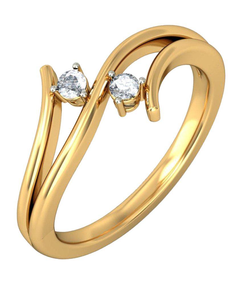 BlueStone 14kt Yellow Gold Twin Wingflow Ring