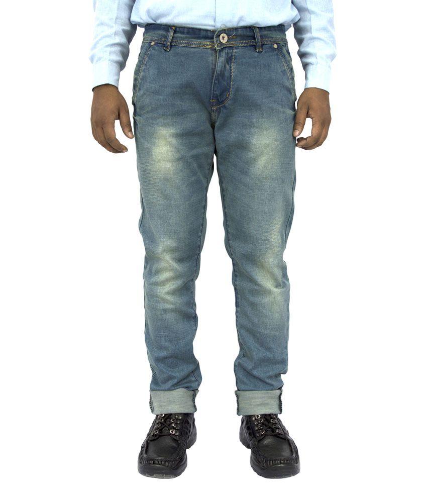 G'ox Blue Regular Fit Jeans