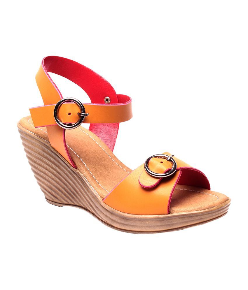 Ruby Tan Faux Leather Heeled Sandals