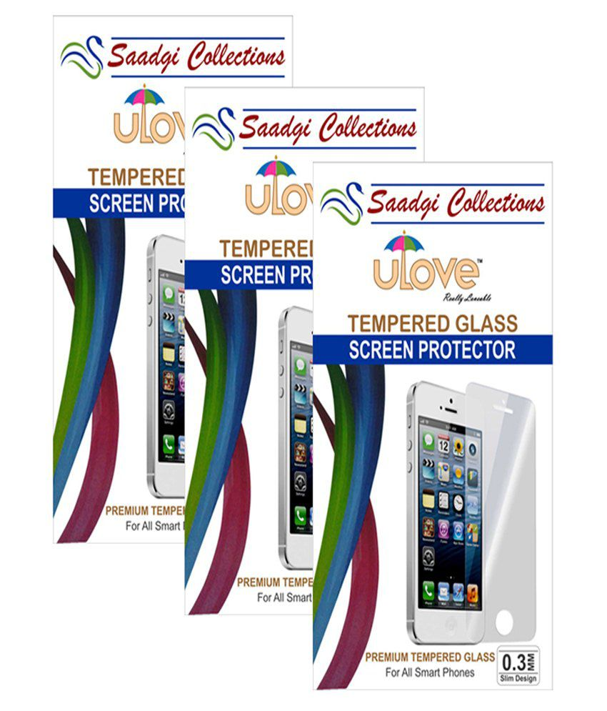 Micromax Q371 Tempered Glass Screen Guard by Saadgi Collections
