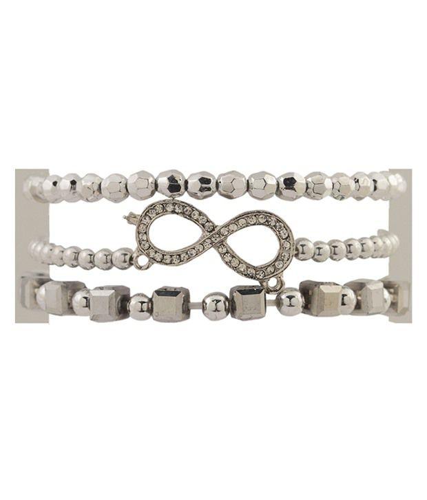 Tipsyfly Silver Alloy Bracelet Set