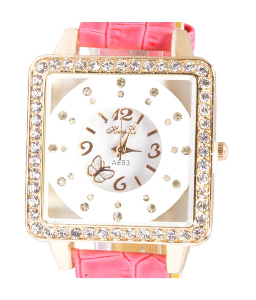 Zoya Pink Casual Watch For Women
