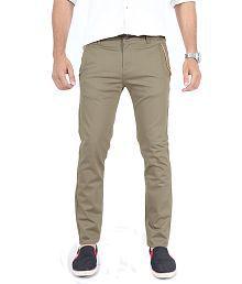Uber Urban Grey Slim Fit Casual Chinos Trouser