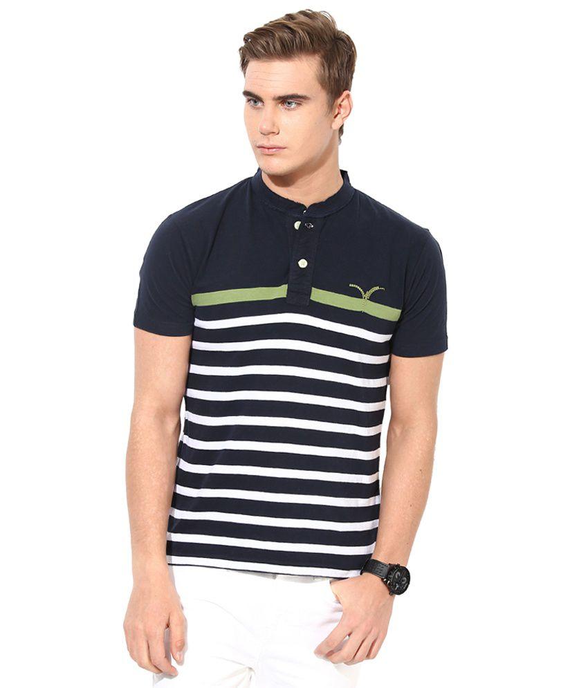 Monteil & Munero Black & White Henley T-Shirt