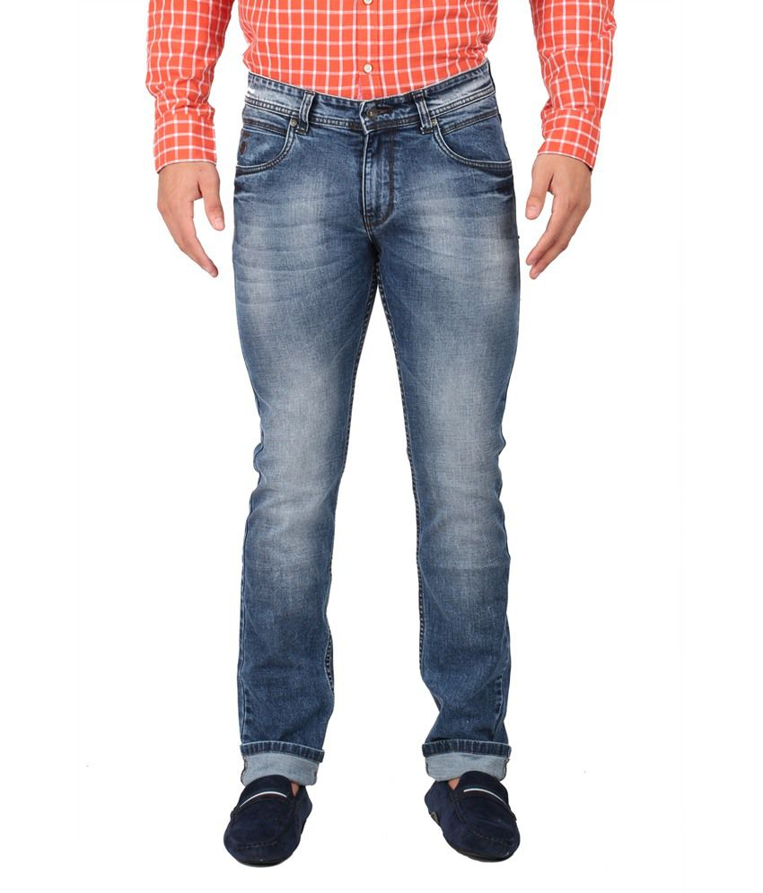 Oxemberg Blue Slim Fit Jeans