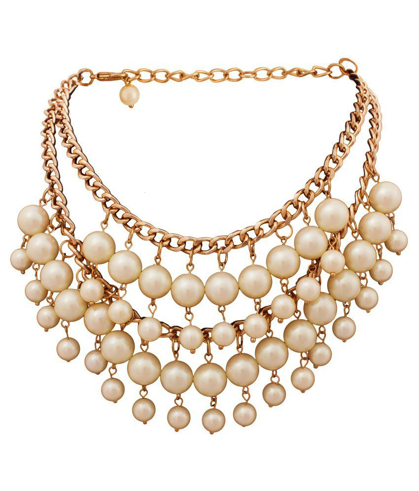 A Bit Of Me White Designer Contemporary Alloy Necklace