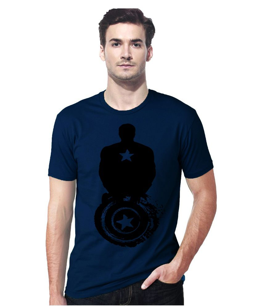 Gallop Captain America Royal Blue Round Neck Tshirt
