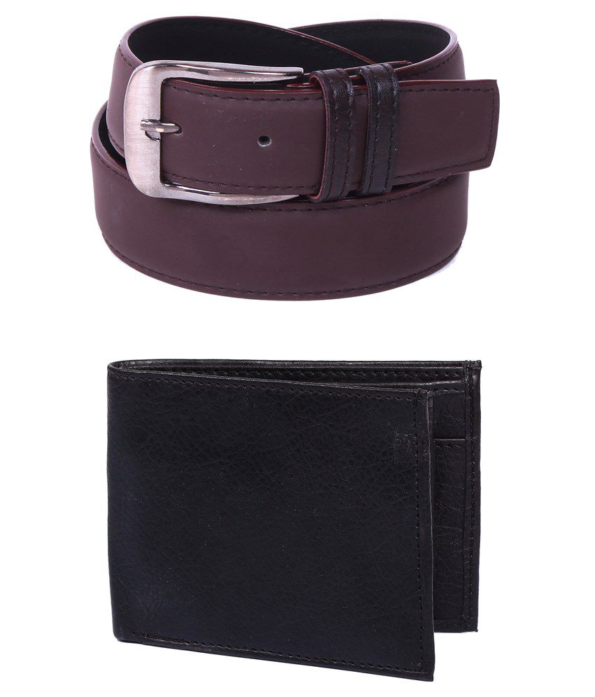 Calibro Combo Of Brown Belt With Wallet