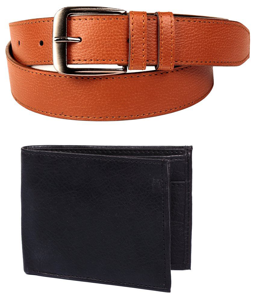 Calibro Combo Of Tan Belt With Wallet