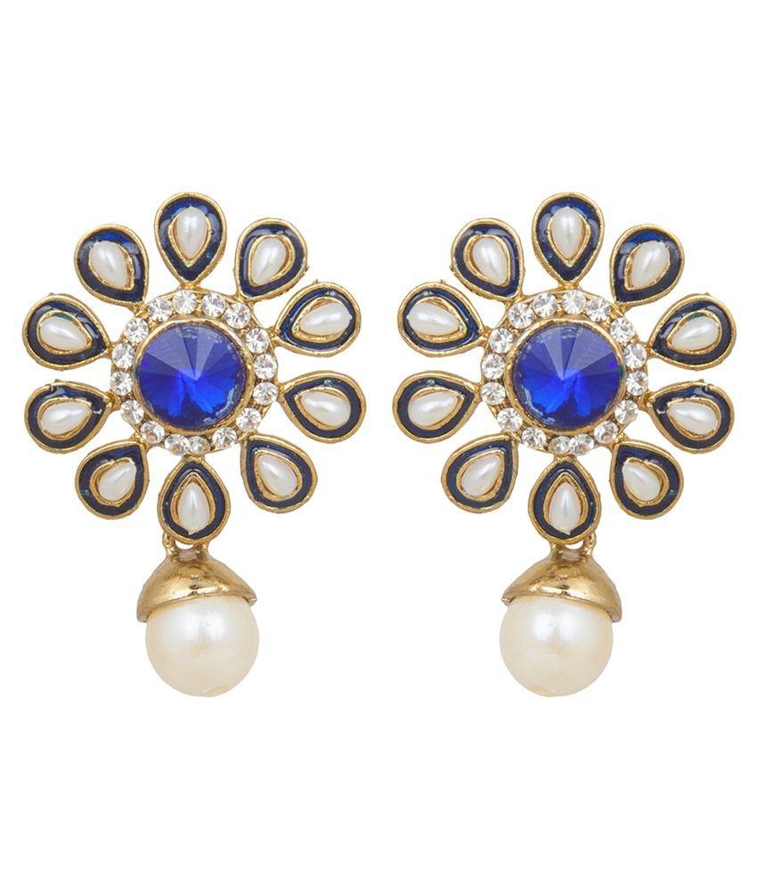 Inaya Blue Push Back Earrings