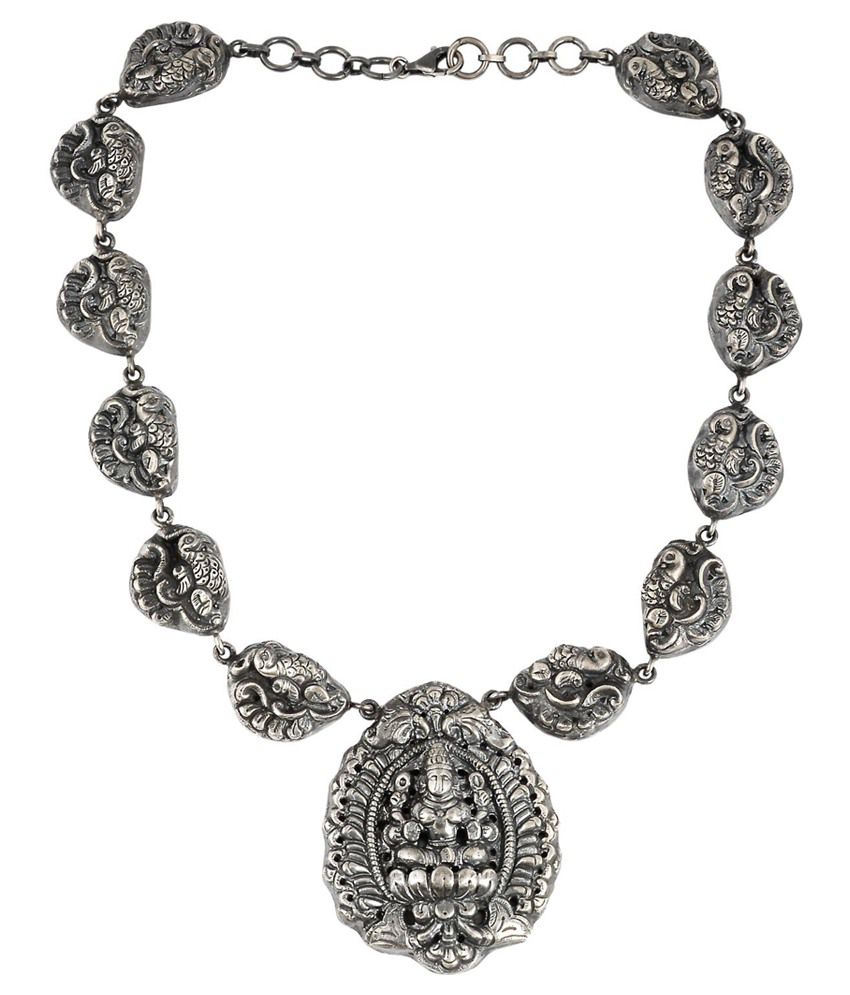 Jewels Of Jaipur Silver Antique Necklace
