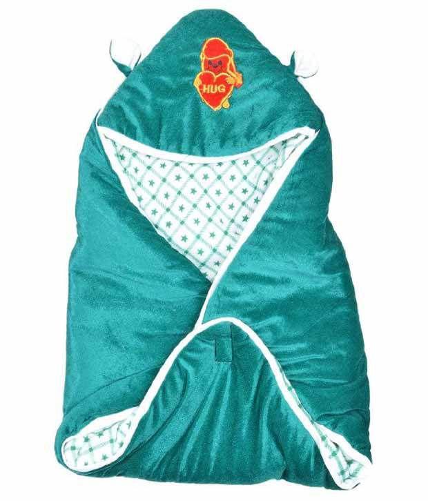 Kws Dark Green Poly Cotton Baby Wrap