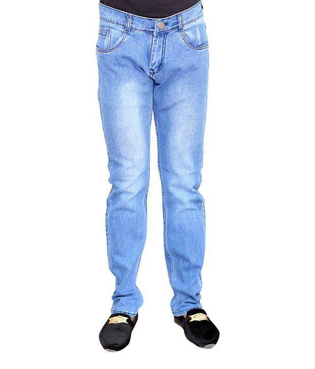 Focker Blue Regular Fit Jeans
