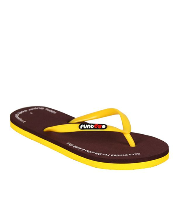 Funtoes Plain Brown Flipflop