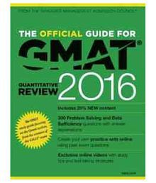 Official Guide For Gmat Quantitative Review 2016 With Online Question Bank And Exclusive Video Paperback (English)