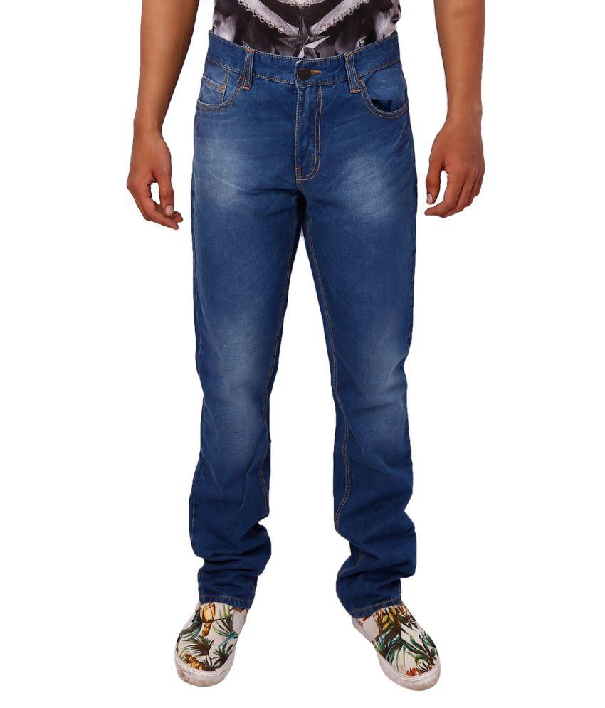 Gustrow Blue Regular Fit Jeans