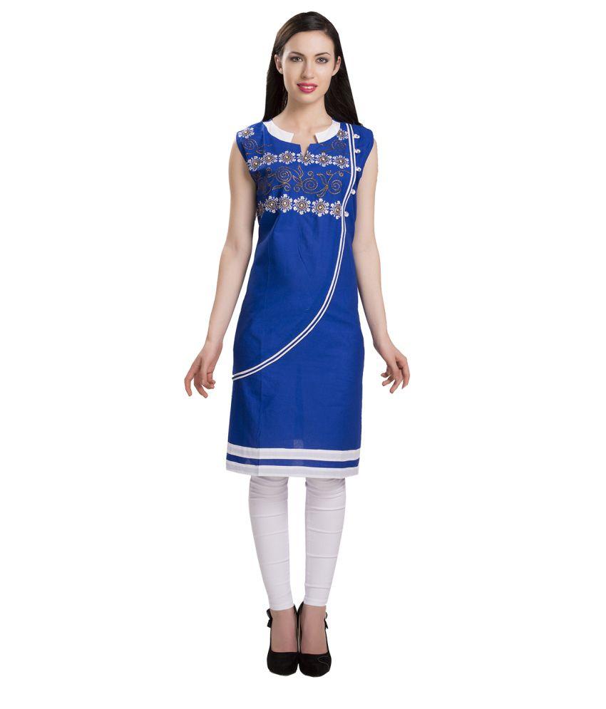 ISHIN Blue Cotton Kurti