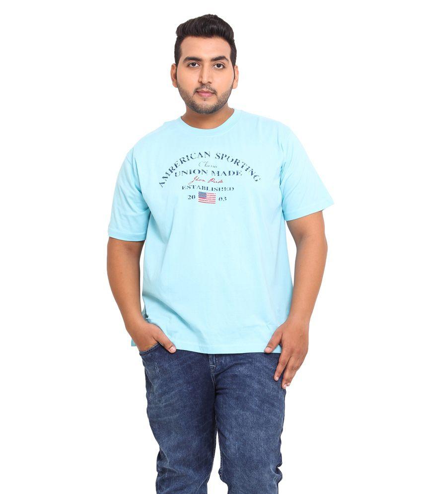 John Pride Blue Blended Cotton T-shirt