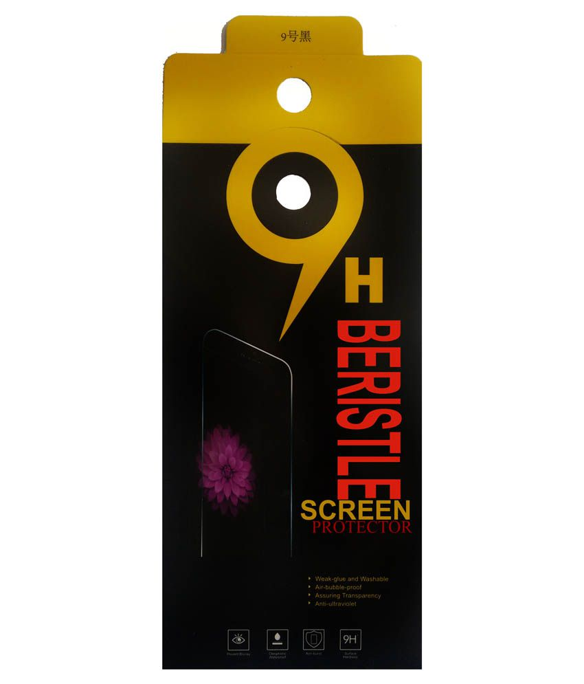 Bristle Tempered Glass Screen Guard For Spice Smart Flo Poise Mi-451