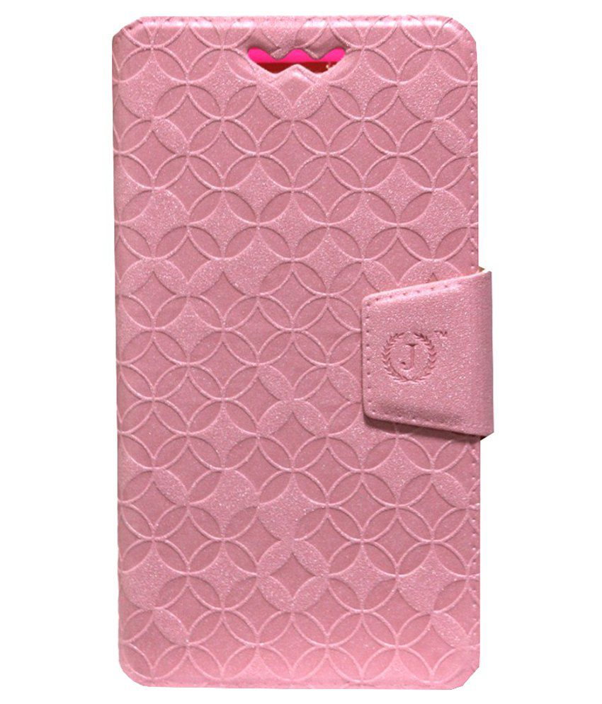 Jo Jo Flip Cover For Spice Mi-514-Pink
