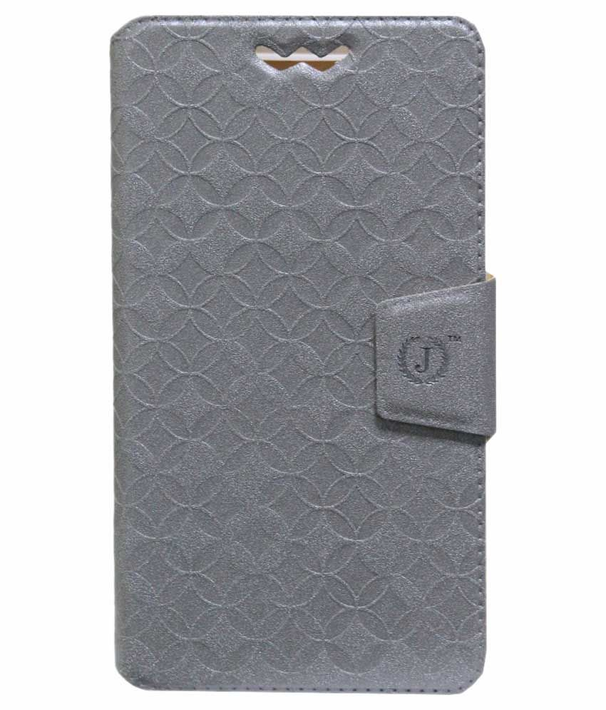 Jo Jo Flip Cover for Celkon AR50 - Silver