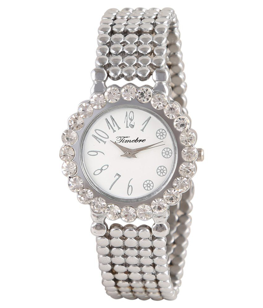 Timebre Women Silver Diamond Dreams Watch
