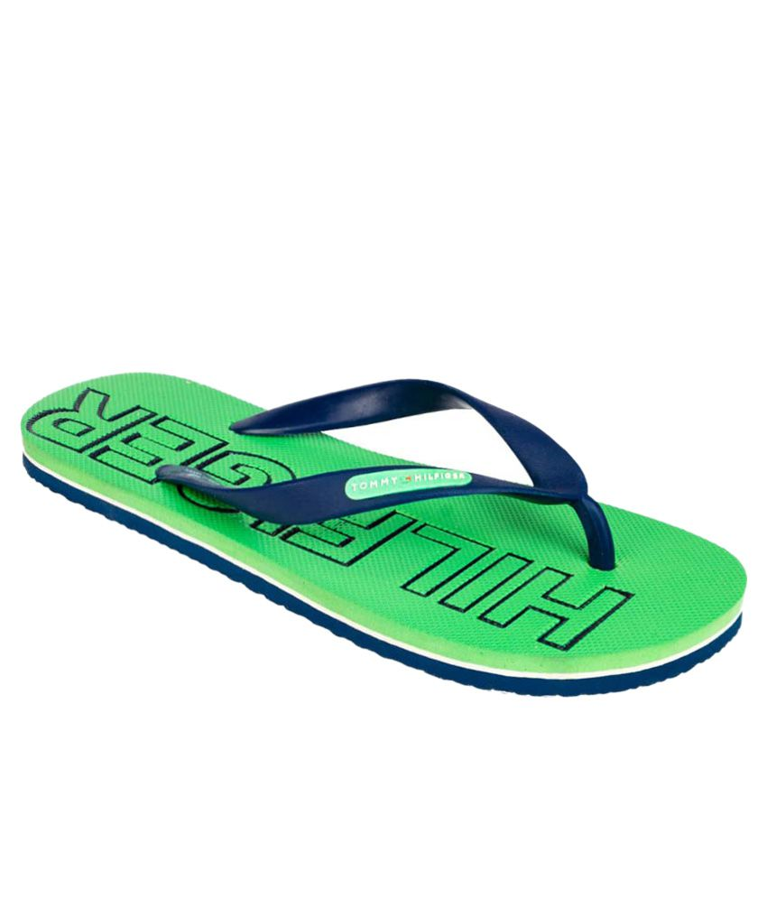 af02d9e20 Tommy Hilfiger Green Flip Flops Price in India- Buy Tommy Hilfiger Green  Flip Flops Online at Snapdeal