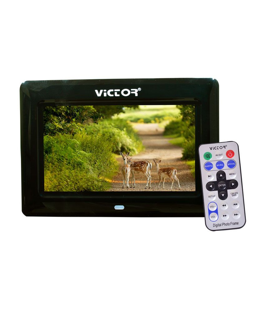 Victor DPF-7043 17.78 cm (7) LCD Digital Photo Frame with Remote - Black