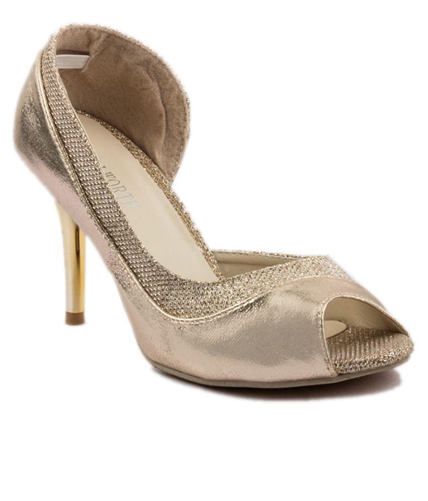 Wellworth Golden Stiletto Heels