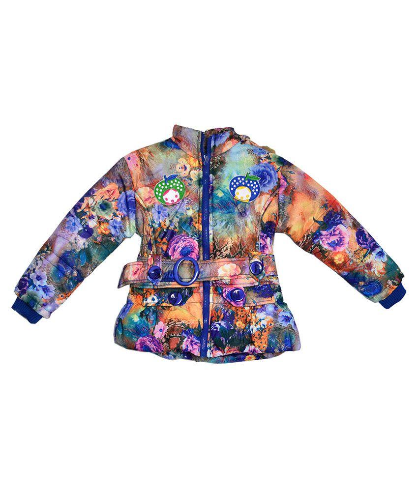 London Girl Multicolour Nylon Padded Jacket With Hood