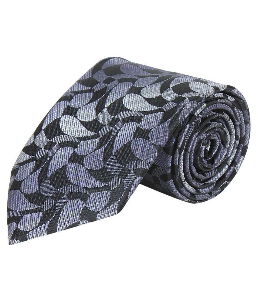 Corpwed Gray Micro Fiber Casual Broad Necktie