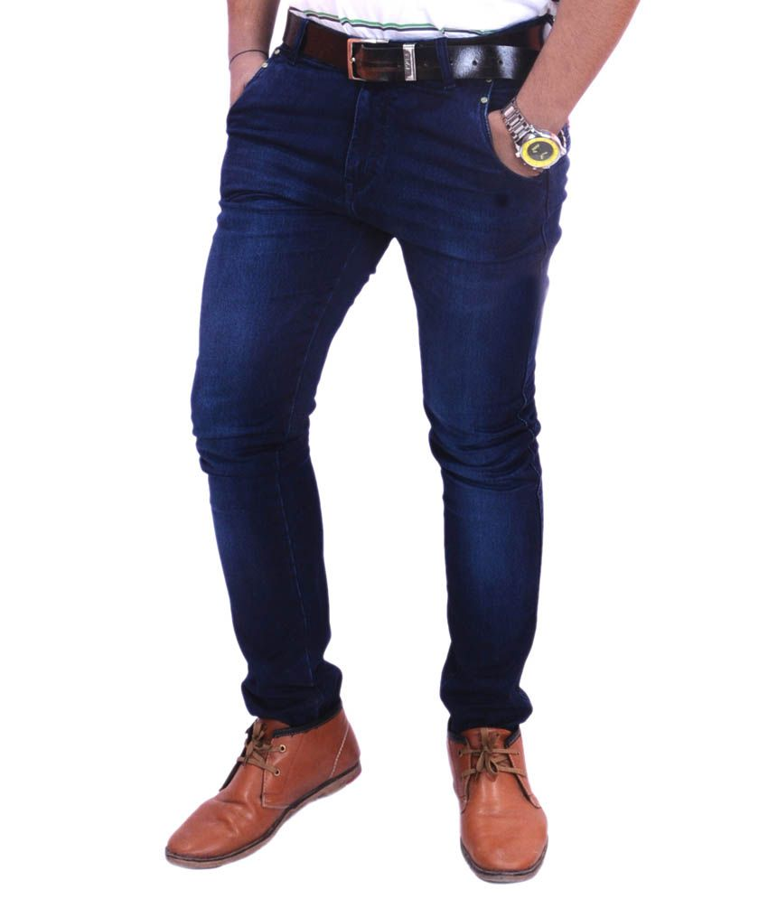 Krazzy Collection Blue Regular Fit Jeans
