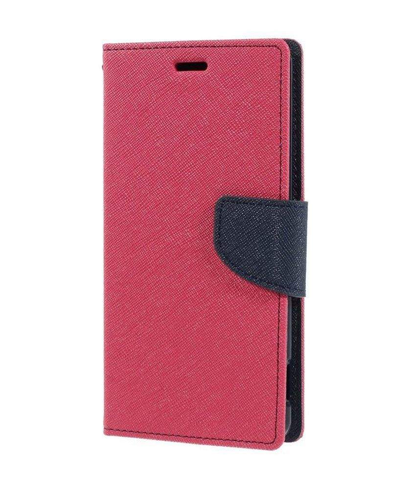 Maac Online Flip Cover (Pink) and Screen Guard for Samsung Galaxy Note 3 Neo 7505