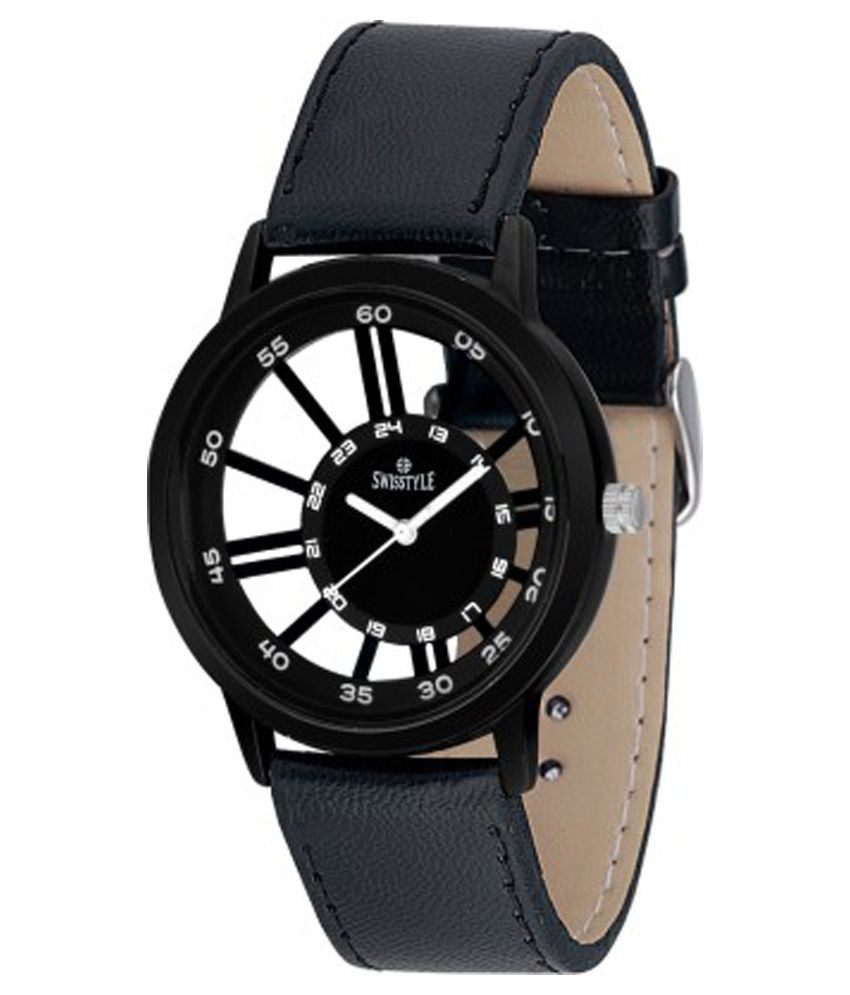 Swisstyle Black Analog Casual Watch