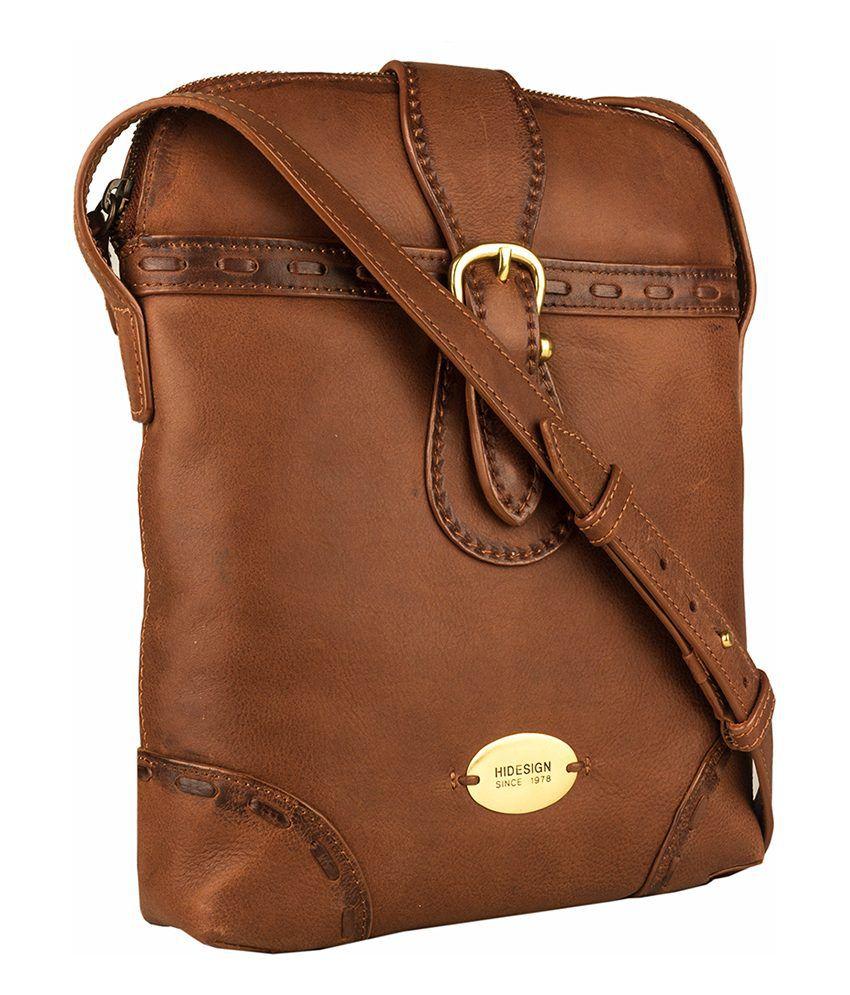 Hidesign Tan Leather Sling Bag - Buy Hidesign Tan Leather Sling ...