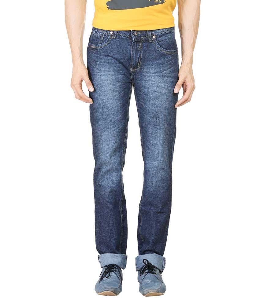 Blumerq Blue Regular Fit Jeans