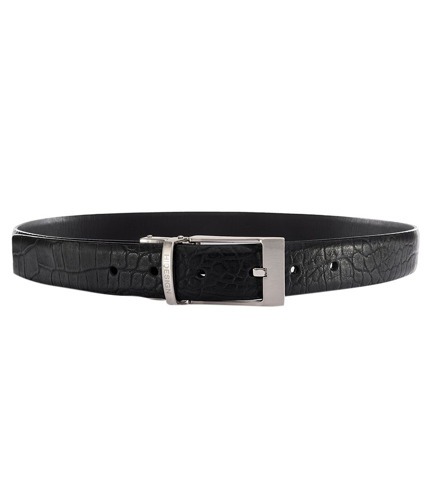 Hidesign Alex Black Brown Reversible Leather Mens Belt
