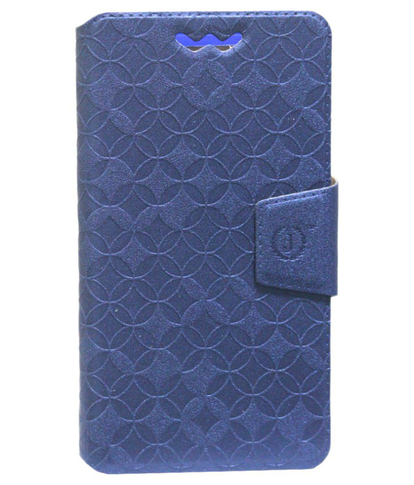 Jo Jo Flip Cover For Celkon Campus A20 - Blue