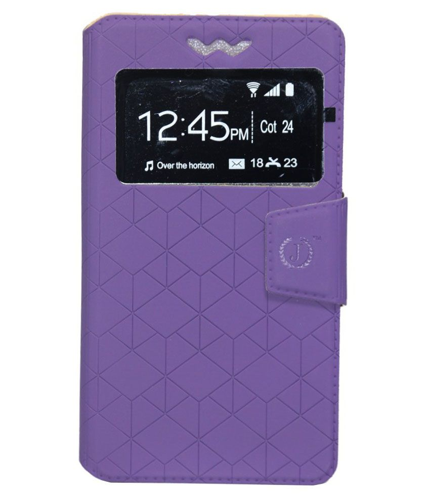 Jo Jo Flip Cover With Holder For Samsung Galaxy X - Purple