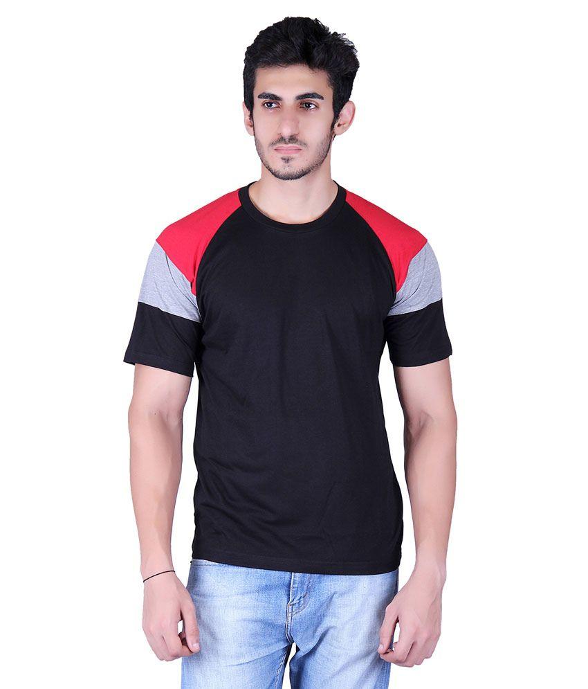 Vivid Bharti Black Round T-Shirt