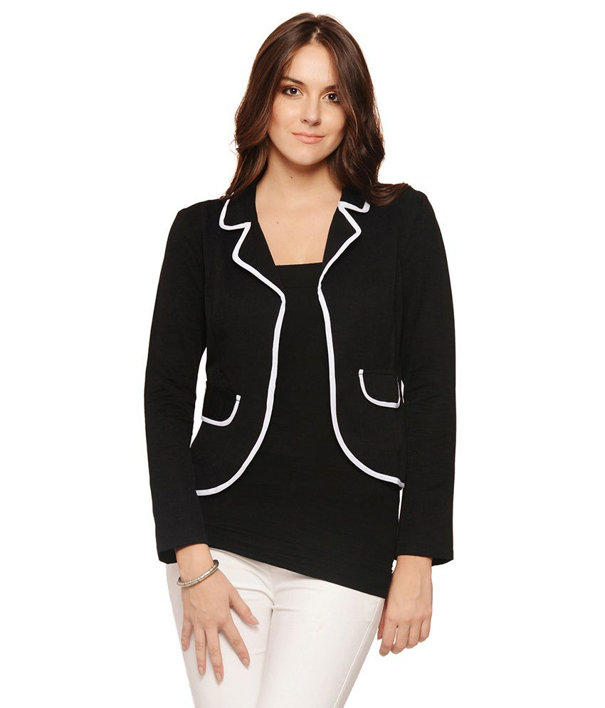 Buy Albely Black Cotton Blazers Online at Best Prices in ...
