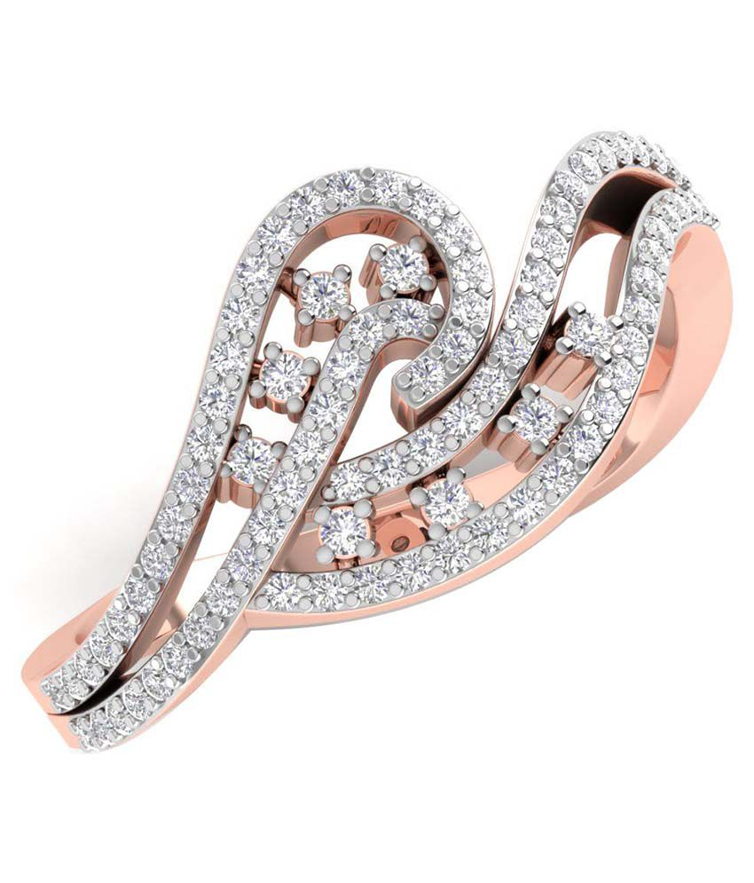 Caratify Nydelia Rose Gold And Diamond Ring