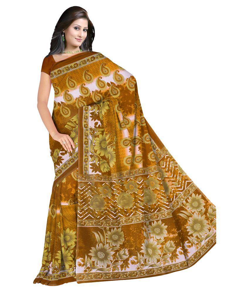 Fostelo Yellow Kota Doria Saree  available at snapdeal for Rs.239