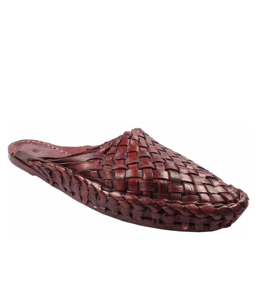 Sushito Brown Ethnic Shoes