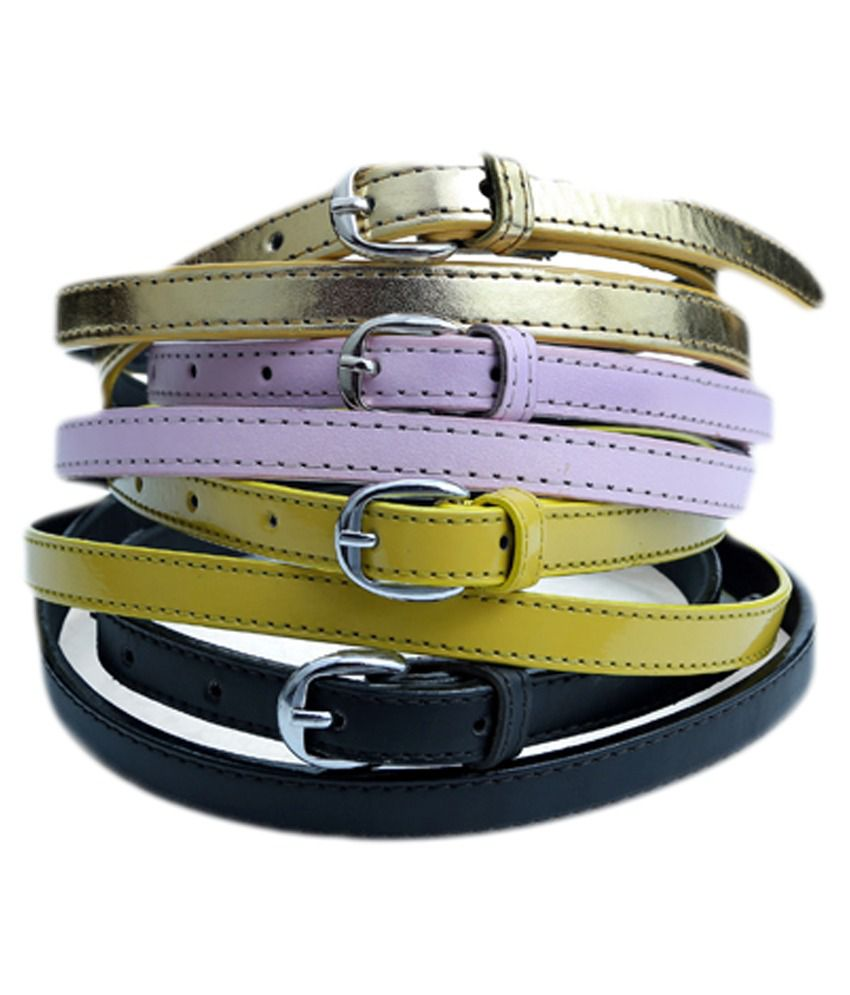 Contra Multicolour Casual Belt - Set of 4