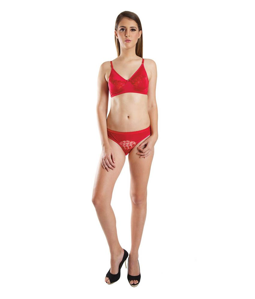 b869c1421f Buy BeautyAid Red Bra   Panty Sets Online at Best Prices in India - Snapdeal