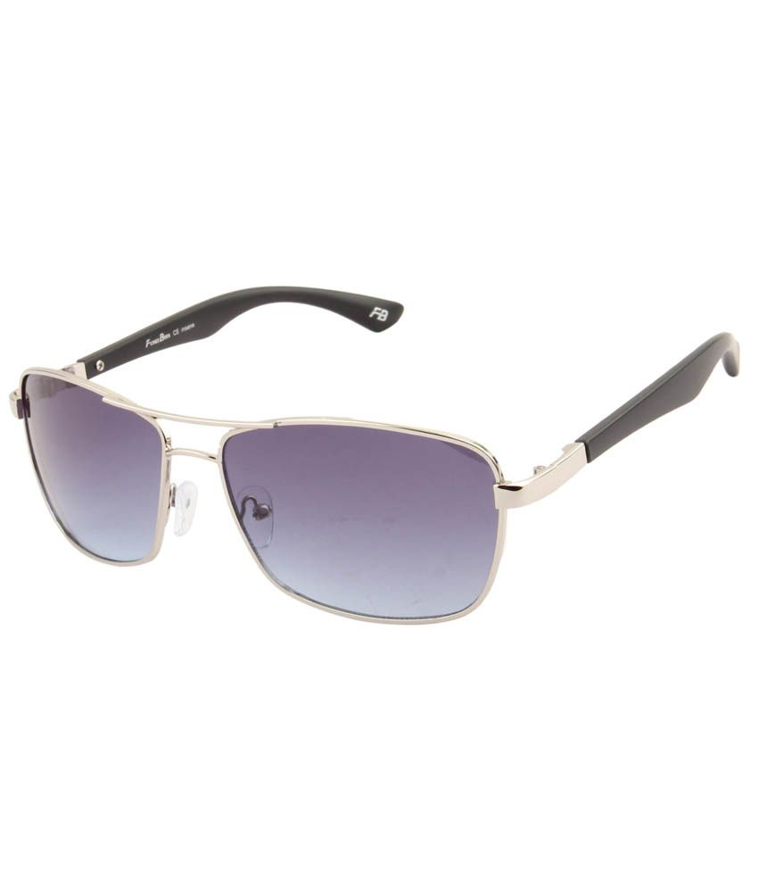 Funky Boys 3074-C2 Blue Rectangle Sunglass For Unisex