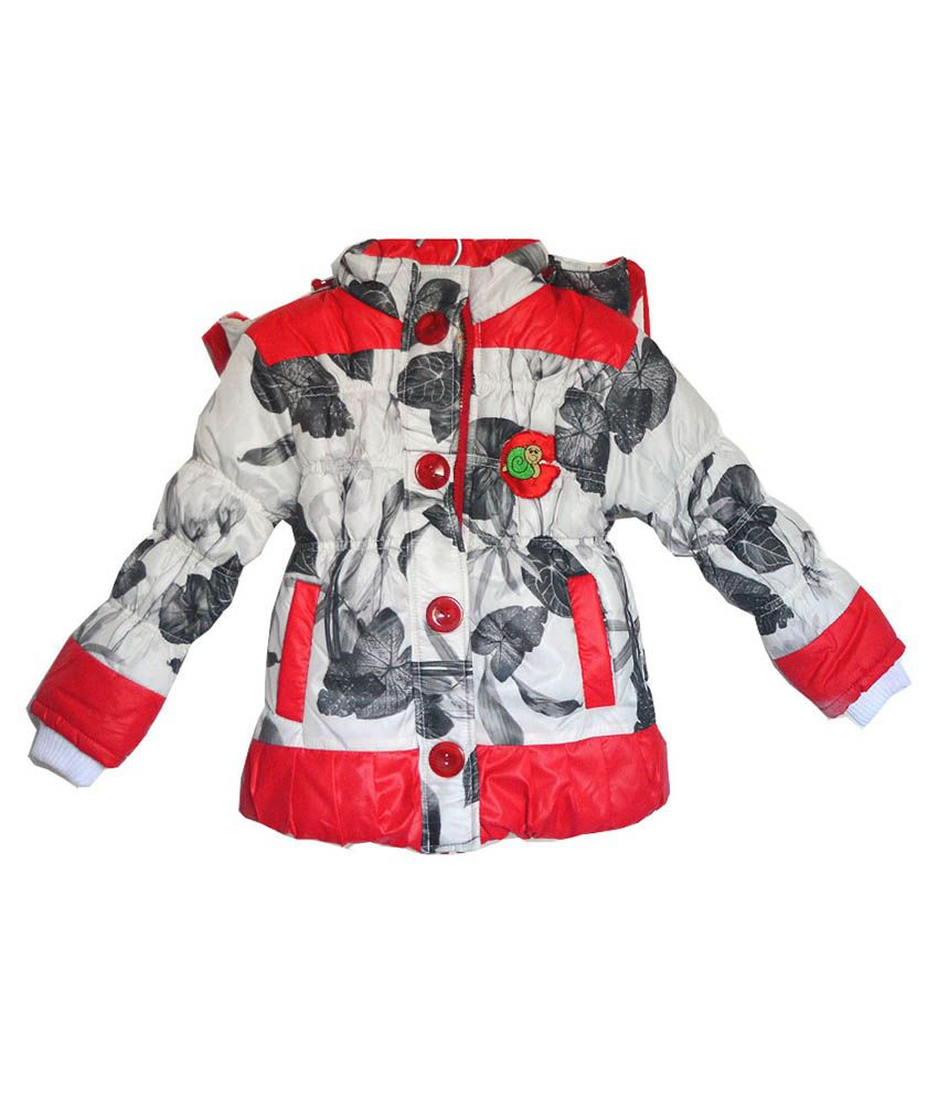 London Girl Red Lapel Hooded Jackets For Girls